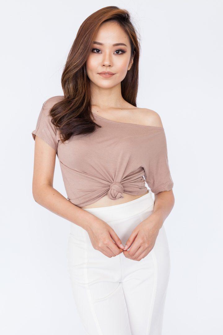 Oversized Casual Tee - Khaki